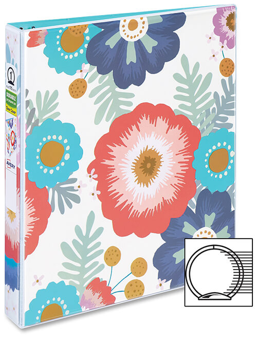 Durable_Binder_with_Round_Ring_Floral