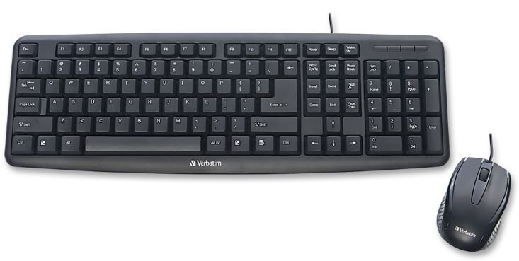 87462307d43 Verbatim Silent Wireless Mouse and Keyboard – Black Say goodbye to noise  and hello to silence with the Verbatim Silent Mouse and Keyboard.